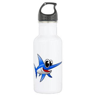 Cartoon Swordfish Water Bottle