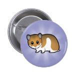 Cartoon Syrian Hamster 2 Inch Round Button