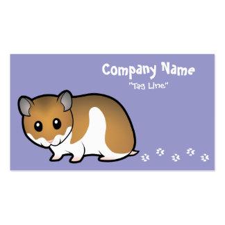Cartoon Syrian Hamster Business Card