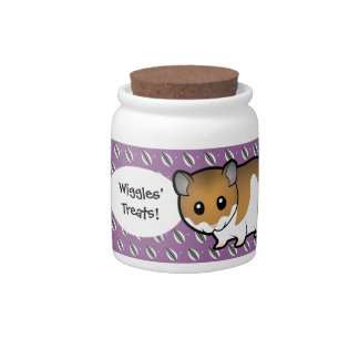 Cartoon Syrian Hamster Candy Jar