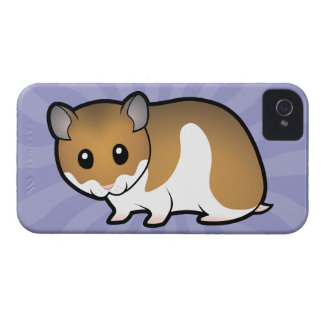 Cartoon Syrian Hamster iPhone 4 Case-Mate Cases