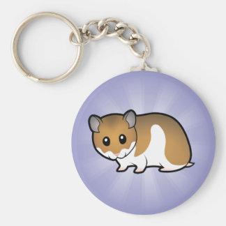 Cartoon Syrian Hamster Key Chains