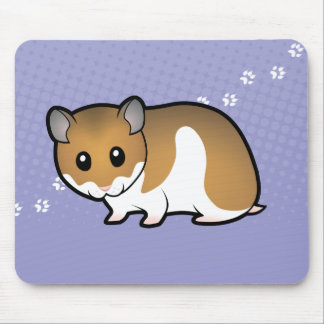 Cartoon Syrian Hamster Mouse Pad