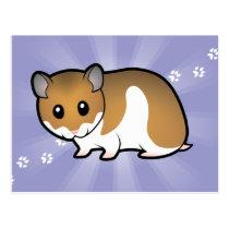 Cartoon Syrian Hamster Postcard