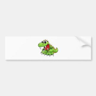 Cartoon T-rex Bumper Sticker