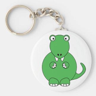 Cartoon T-Rex (green) Keychains