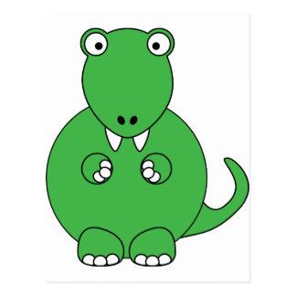 Cartoon T-Rex (green) Postcard