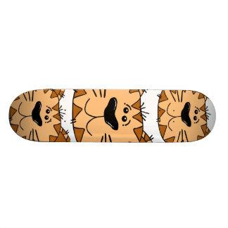 Cartoon Tabby Cat Face Custom Skate Board