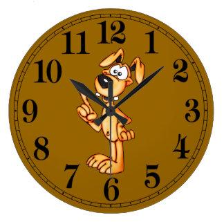 Cartoon Talking Dog Wall Clock