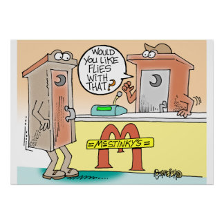 Cartoon Talking Outhouses poster