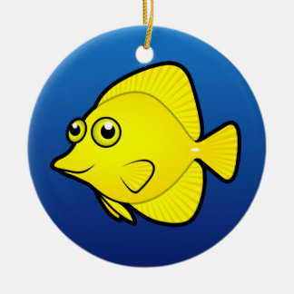 Cartoon Tang / Surgeonfish 1 Ceramic Ornament
