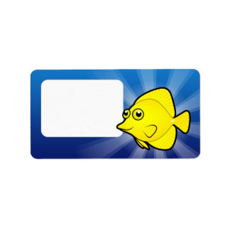 Cartoon Tang / Surgeonfish 1 Label
