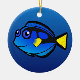 Cartoon Tang / Surgeonfish 2 Ceramic Ornament