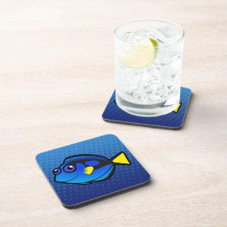 Cartoon Tang / Surgeonfish 2 Beverage Coasters