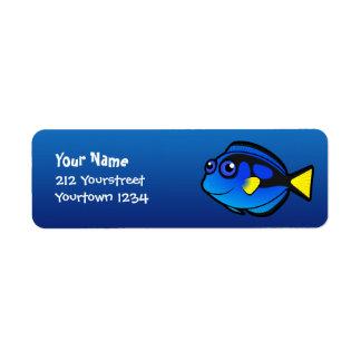 Cartoon Tang / Surgeonfish 2 Label