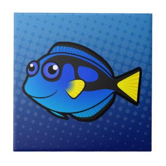 Cartoon Tang / Surgeonfish 2 Ceramic Tiles