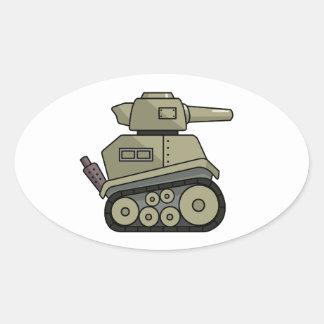 Cartoon Tank Sticker