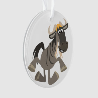Cartoon Tap Dancing Wildebeest Acrylic Ornament
