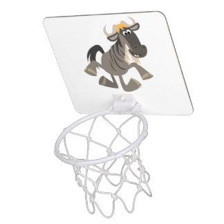 Cartoon Tap Dancing Wildebeest Basketball Hoop