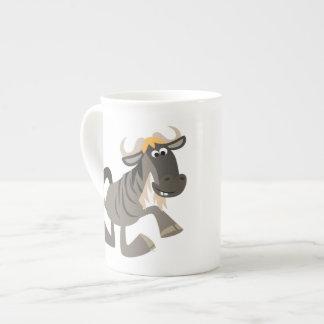 Cartoon Tap Dancing Wildebeest Bone China Mug