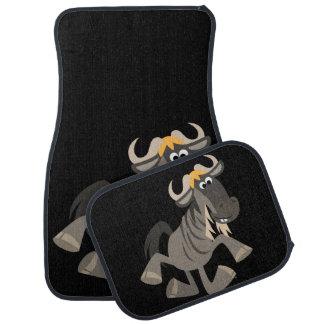 Cartoon Tap Dancing Wildebeest Car Mats