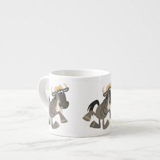 Cartoon Tap Dancing Wildebeest Espresso Mug