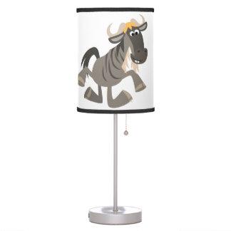 Cartoon Tap Dancing Wildebeest Table Lamp