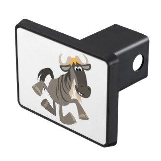 Cartoon Tap Dancing Wildebeest Trailer Hitch Cover