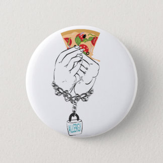 Cartoon Tasty Pizza and Hands2 Button
