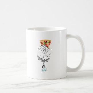 Cartoon Tasty Pizza and Hands2 Coffee Mug
