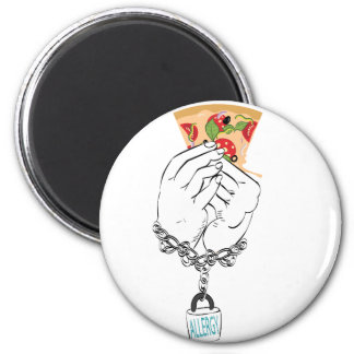 Cartoon Tasty Pizza and Hands2 Magnet