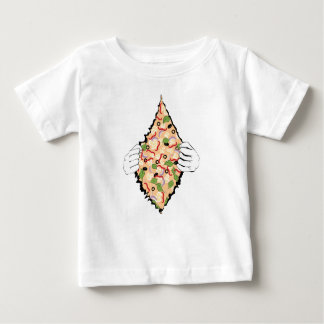 Cartoon Tasty Pizza and Hands4 Baby T-Shirt