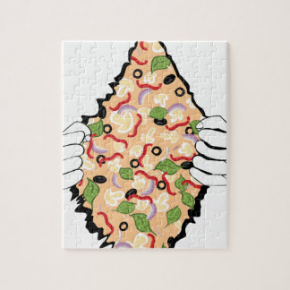 Cartoon Tasty Pizza and Hands4 Jigsaw Puzzle