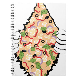 Cartoon Tasty Pizza and Hands4 Notebook