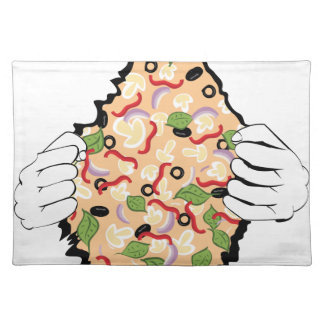 Cartoon Tasty Pizza and Hands4 Placemat