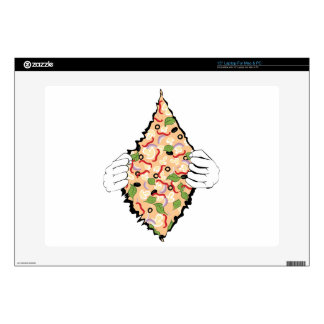 Cartoon Tasty Pizza and Hands4 Skin For Laptop