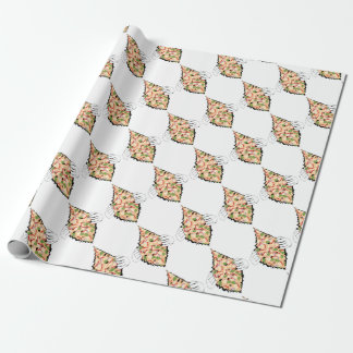 Cartoon Tasty Pizza and Hands4 Wrapping Paper