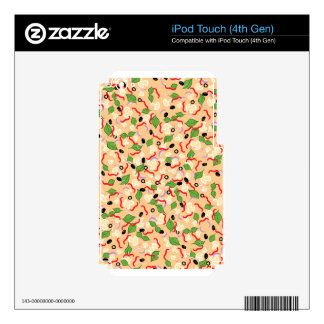 Cartoon Tasty Pizza iPod Touch 4G Skin