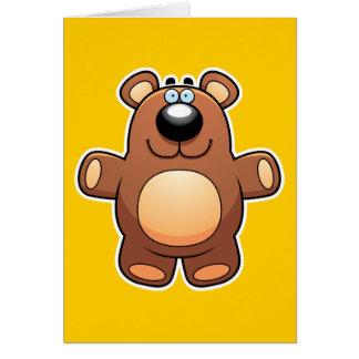 Cartoon Teddy Bear Card