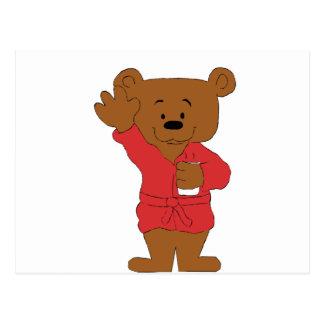 Cartoon Teddy Bear P Diddy Fan Postcard