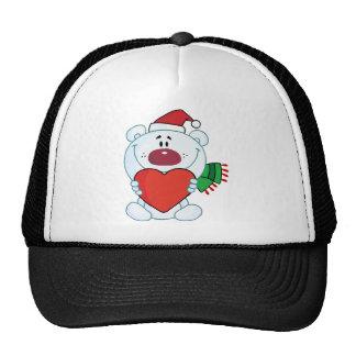 Cartoon teddy bear wearing a Santa hat