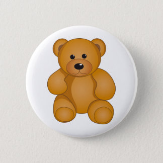 Cartoon Teddy Design Button