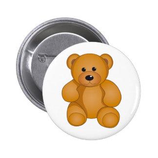 Cartoon Teddy Design Button