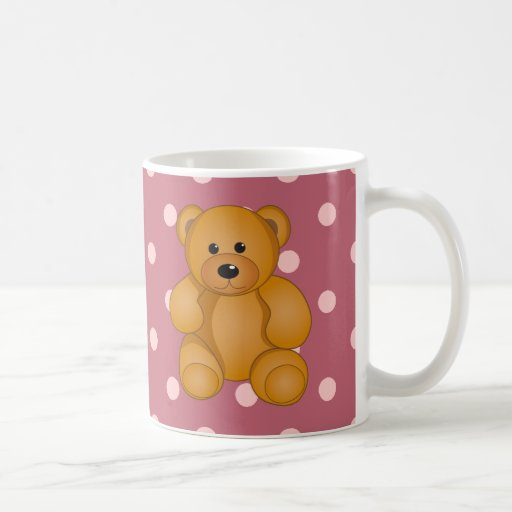 Cartoon Teddy Design Classic White Coffee Mug