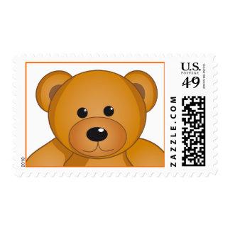 Cartoon Teddy Design Postage Stamp