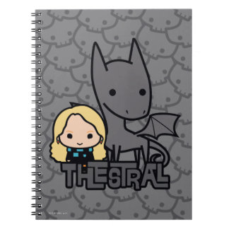 Cartoon Thestral and Luna Character Art Notebook