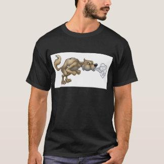 Cartoon Three Little Pigs Big Bad Wolf Blowing T-Shirt