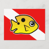 Threespot Damselfish Dive Flag