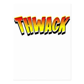Cartoon THWACK by Chillee Wilson Postcard