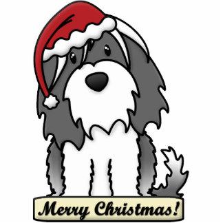 Cartoon Tibetan Terrier Christmas Ornament